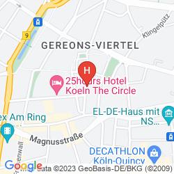 Map AZIMUT HOTEL COLOGNE