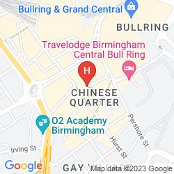 Map IBIS BIRMINGHAM CITY CENTRE