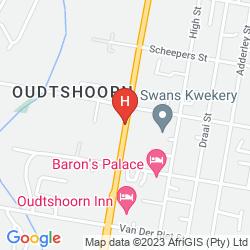 Map OUDTSHOORN INN
