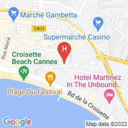 Map RESIDEAL CANNES