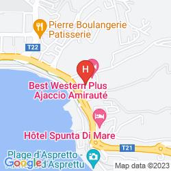 Map BEST WESTERN PLUS HOTEL AJACCIO AMIRAUTE