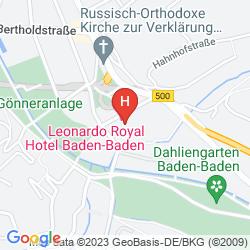 Map LEONARDO ROYAL BADEN-BADEN