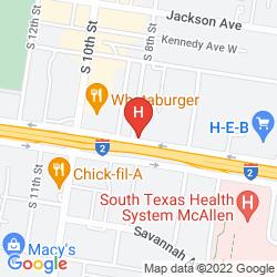 Map MOTEL 6 MCALLEN, TX