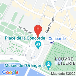 Map DE CRILLON, A ROSEWOOD HOTEL