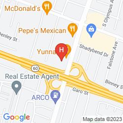 Map VAGABOND INN HACIENDA HEIGHTS