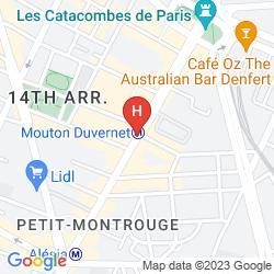 Map BEST WESTERN NOUVEL ORLEANS MONTPARNASSE