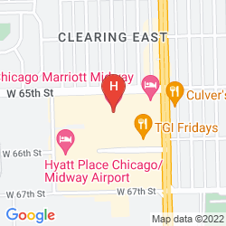 Map CHICAGO MARRIOT MIDWAY