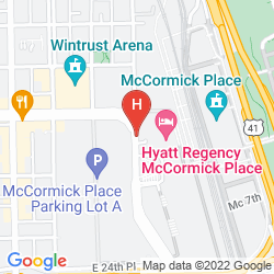 Map HYATT REGENCY MCCORMICK PLACE