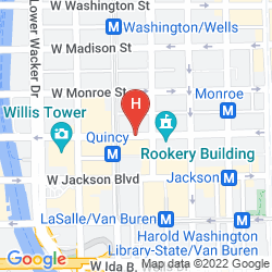 Map W CHICAGO - CITY CENTER