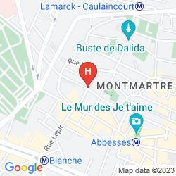 Map BEST WESTERN PLUS HOTEL LITTERAIRE MARCEL AYMÉ