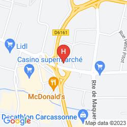 Map KYRIAD CARCASSONNE - AÉROPORT