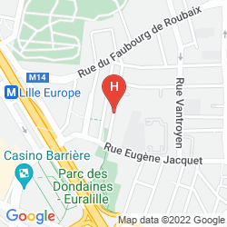 Map CAMPANILE LILLE OUEST - LOMME