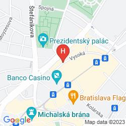 Map AUSTRIA TREND HOTEL BRATISLAVA