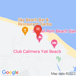 Map SEABEL RYM BEACH DJERBA