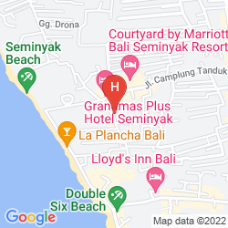 Map THE BREEZES BALI RESORT AND SPA