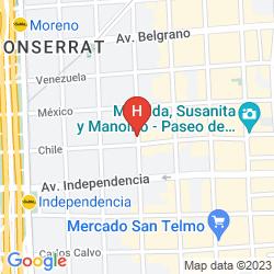 Map AMERICA DEL SUR HOSTEL