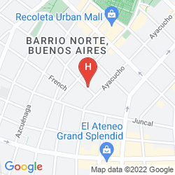 Map HOWARD JOHNSON HOTEL BOUTIQUE RECOLETA
