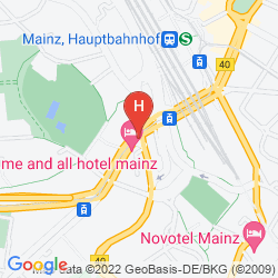 Map INTERCITYHOTEL MAINZ