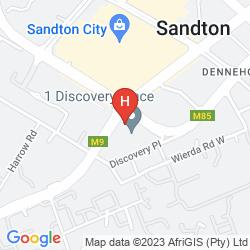 Map GARDEN COURT SANDTON