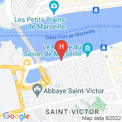 Map RADISSON BLU HOTEL, MARSEILLE VIEUX PORT