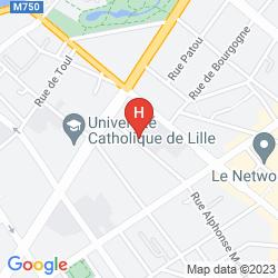 Map APARTHOTEL ADAGIO ACCESS LILLE VAUBAN