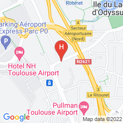 Map RADISSON BLU HOTEL TOULOUSE AIRPORT