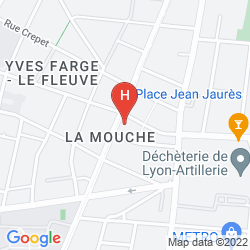 Map RESIDHOME APPART HOTEL LYON GERLAND