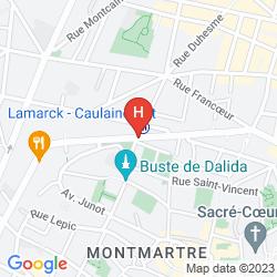Map ADONIS SACRÉ COEUR HOTEL ROMA