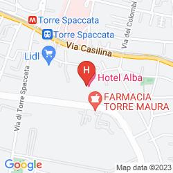 Map ALBA HOTEL TORRE MAURA