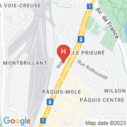 Map QUALITY HOTEL GENEVA CITY CENTRE