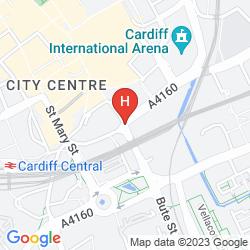 Map RADISSON BLU CARDIFF