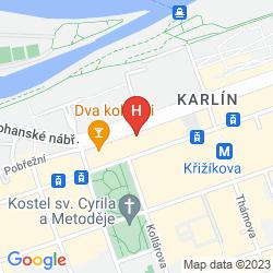 Map HILTON PRAGUE