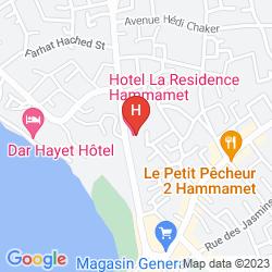 Map RESIDENCE HAMMAMET