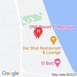 Map ONE RESORT EL MANSOUR