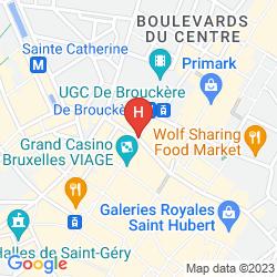 Map APARTHOTEL ADAGIO BRUSSELS GRAND PLACE