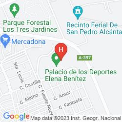 Map PUENTE ROMANO BEACH RESORT & SPA MARBELLA