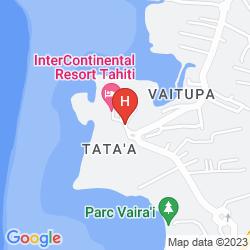 Map INTERCONTINENTAL TAHITI RESORT & SPA
