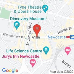 Map HOLIDAY INN EXPRESS NEWCASTLE CITY CENTRE