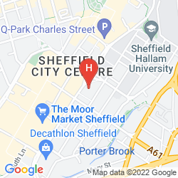 Map JURYS INN SHEFFIELD