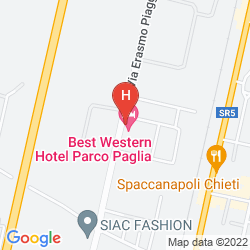 Map BEST WESTERN PARCO PAGLIA