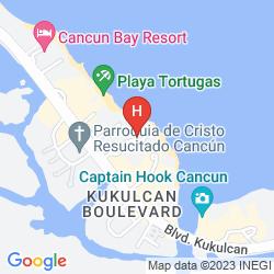 Map OCCIDENTAL COSTA CANCUN