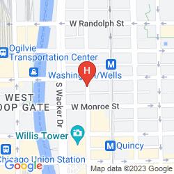Map LA QUINTA INN & SUITES CHICAGO DOWNTOWN