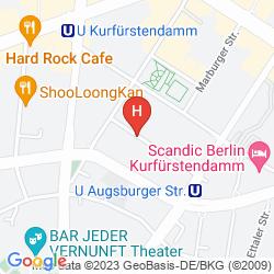 Map DORMERO HOTEL BERLIN KU'DAMM