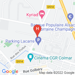 Map CAMPANILE COLMAR - AEROPORT