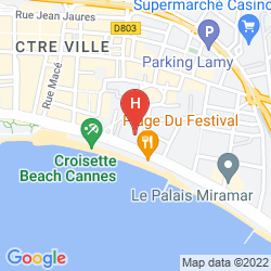 Map JW MARRIOTT CANNES