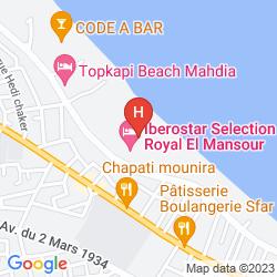 Map IBEROSTAR SELECTION ROYAL EL MANSOUR