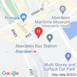 Map JURYS INN ABERDEEN