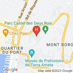 Map VILLA LA MALOUINE
