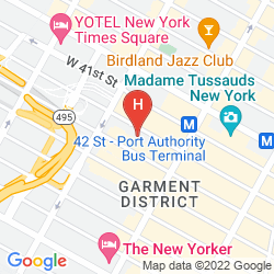 Map FAIRFIELD INN & SUITES BY MARRIOTT NEW YORK MANHATTAN/TIMES SQUARE