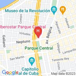 Map IBEROSTAR PARQUE CENTRAL